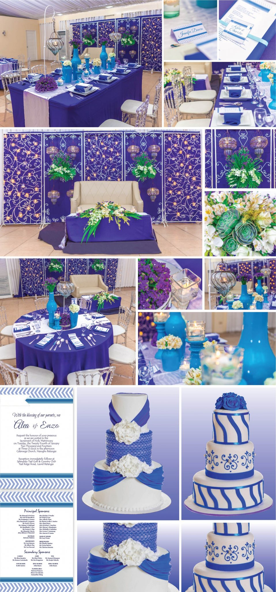 Midnight blue wedding hizons catering junglespirit Images