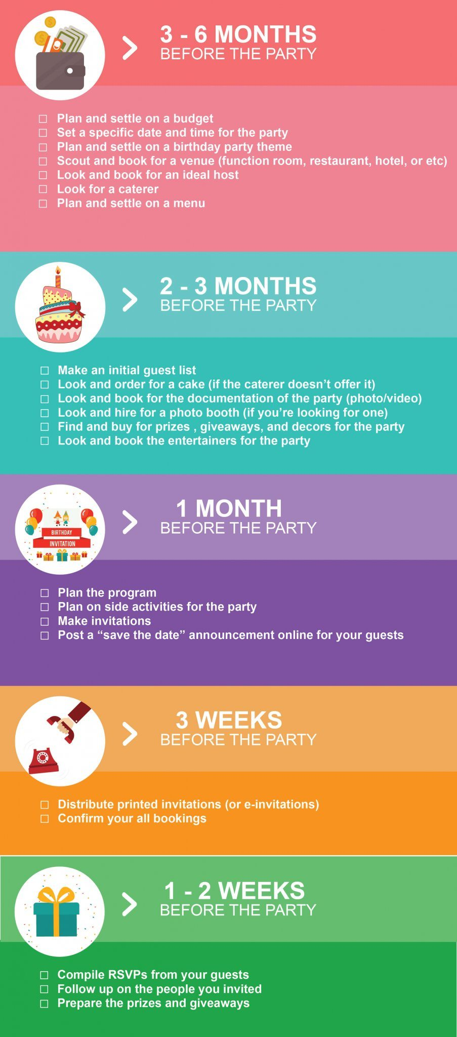 Kids Party Planning Checklist Hizon S Catering